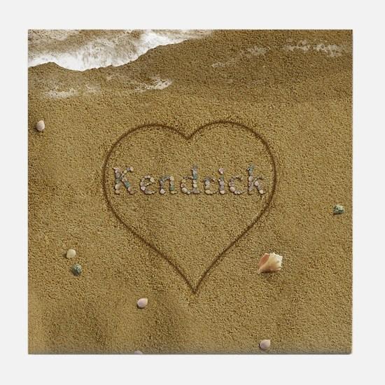 Kendrick Beach Love Tile Coaster