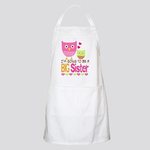 Big Sister Baby Owls I'm Going to be a Big S Apron