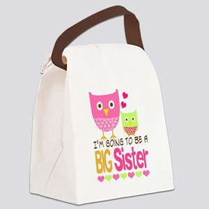 Big Sister Baby Owls I'm Going to Canvas Lunch Bag