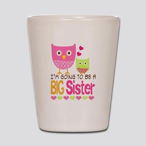 Big Sister Baby Owls I'm Going to be a  Shot Glass
