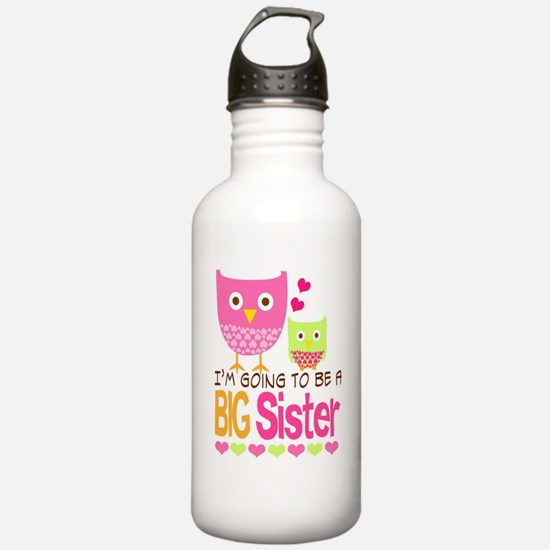 Big Sister Baby Owls I Water Bottle