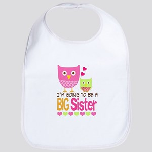 Big Sister Baby Owls I'm Going to be a Big Sis Bib