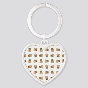 STACKED BOOKS Heart Keychain