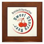 Sweet Cherry Beer Framed Tile