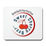 Sweet Cherry Beer Mousepad