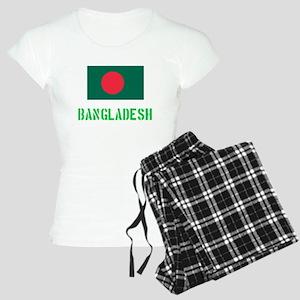 Bangladesh Flag Stencil Green Design Pajamas