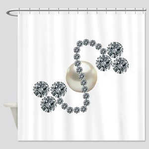 Three-Leaf Clover Brooch Shower Curtain