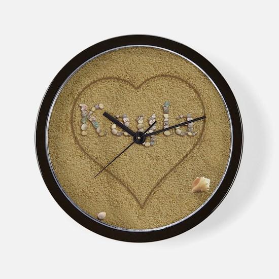 Kayla Beach Love Wall Clock