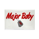Navy Major Baby Rectangle Magnet (100 pack)