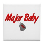 Navy Major Baby Tile Coaster