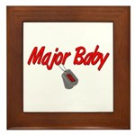 Navy Major Baby Framed Tile