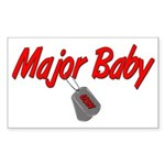 Navy Major Baby Rectangle Sticker