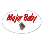 Navy Major Baby Oval Sticker