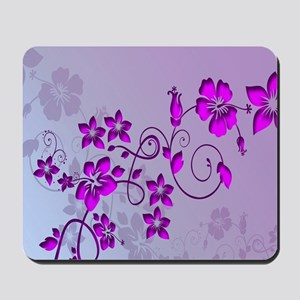 Magenta Flower Abstract Mousepad