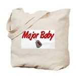 Navy Major Baby  Tote Bag