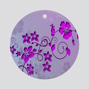 Magenta Flower Abstract Ornament (Round)