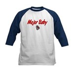 Navy Major Baby Kids Baseball Jersey
