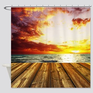 SEASIDE DOCK Shower Curtain
