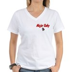 Navy Major Baby Women's V-Neck T-Shirt