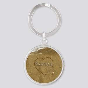 Katrina Beach Love Round Keychain