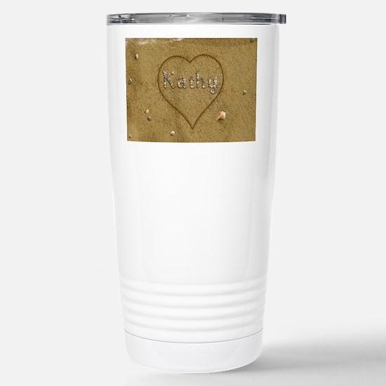 Kathy Beach Love Stainless Steel Travel Mug