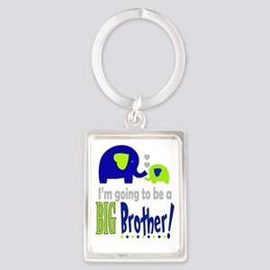 I'm going to be a Big Brother Portrait Keychain