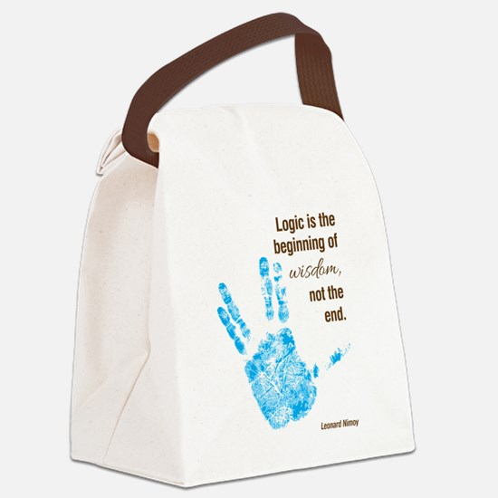 Logic is the Beginning of Wisdom Canvas Lunch Bag