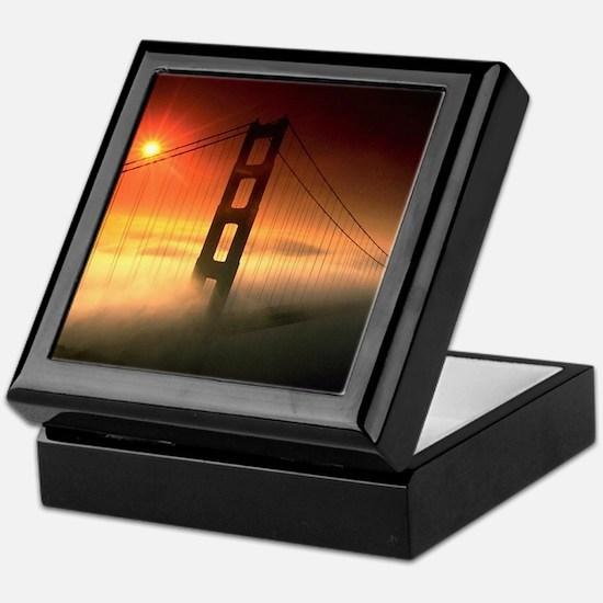 Fog Shrouded Golden Gate Keepsake Box