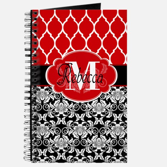 Vintage Floral Monogram Journal