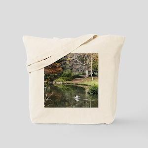 Duck Pond Scene Tote Bag