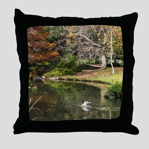 Duck Pond Scene Throw Pillow