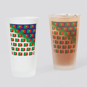 Portugal flag pattern Drinking Glass