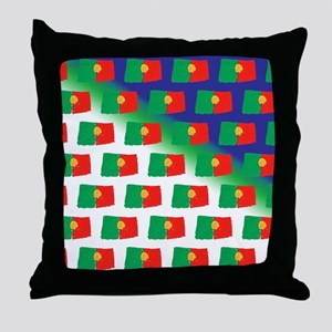 Portugal flag pattern Throw Pillow