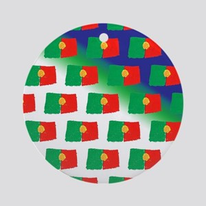 Portugal flag pattern Round Ornament