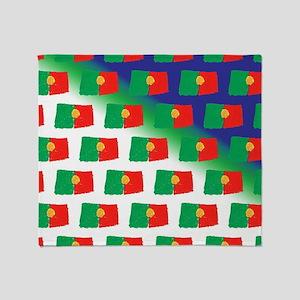 Portugal flag pattern Throw Blanket