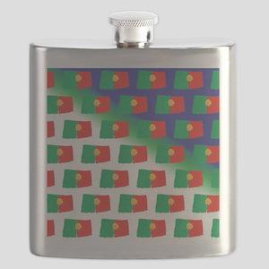 Portugal flag pattern Flask