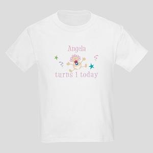 Angela turns 1 today Kids Light T-Shirt