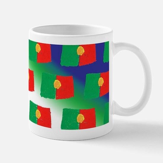 Portugal flag pattern Mugs