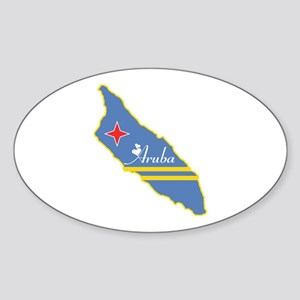 Cool Aruba Oval Sticker