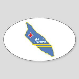 Cool Aruba Oval Sticker
