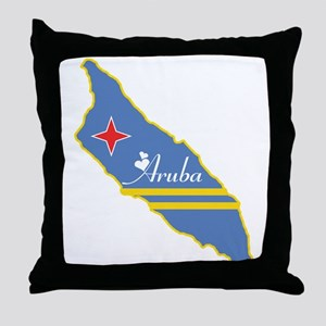 Cool Aruba Throw Pillow