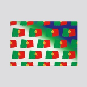 Portugal flag pattern Magnets
