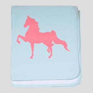 American Saddlebred - Pink pattern baby blanket