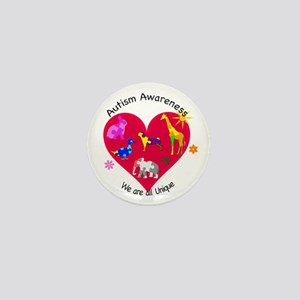 Autism Awareness Animals Mini Button