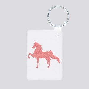 American Saddlebred - Pink Pattern Keychains