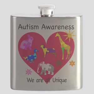 Autism Awareness Animals Flask