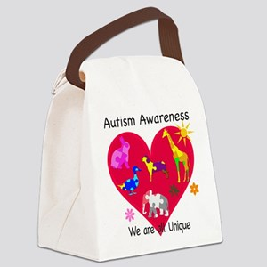 Autism Awareness Animals Canvas Lunch Bag