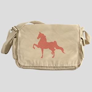 American Saddlebred - Pink pattern Messenger Bag