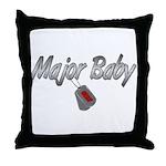 Navy Major Baby ver2  Throw Pillow
