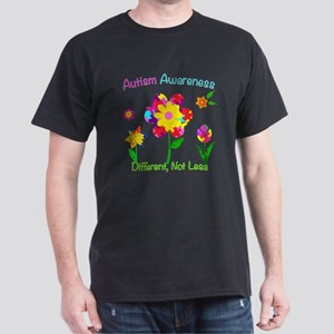 Autism Awareness Flowers Dark T-Shirt
